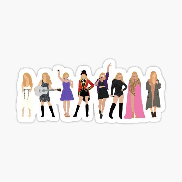 Taylor Swift Eras (w/ folklore) Sticker