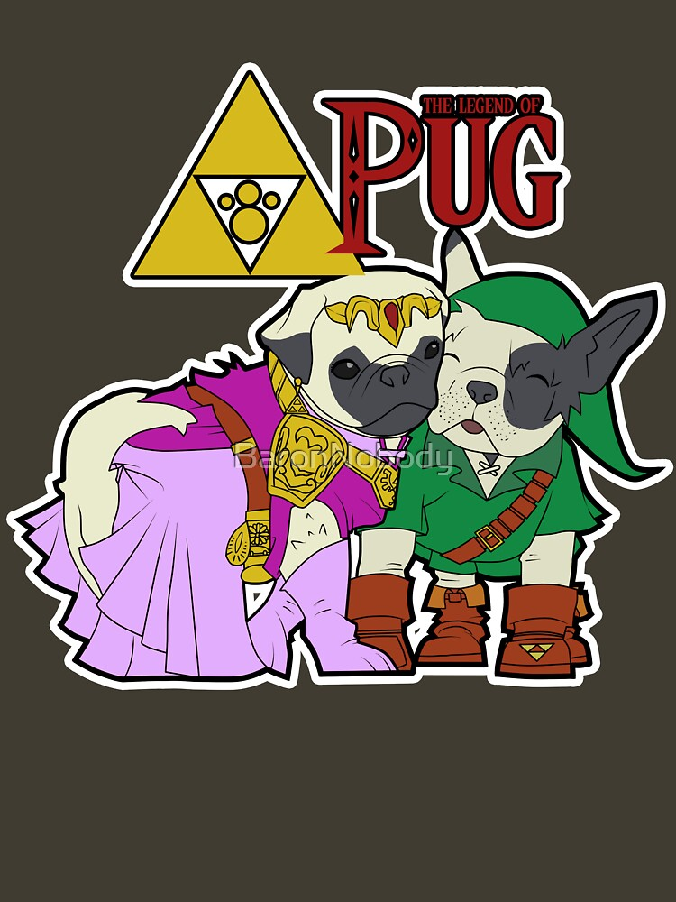 Legend of Pug: Zelda/Pug Cross | Unisex T-Shirt
