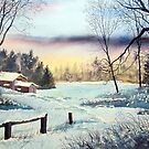 Cottage in Winter by Glenn Marshall