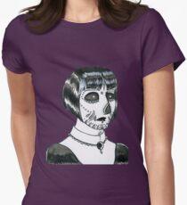 Dia De Los Muertos Portrait #1 Womens Fitted T-Shirt