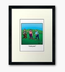 Funny Golf Cartoon! Framed Print