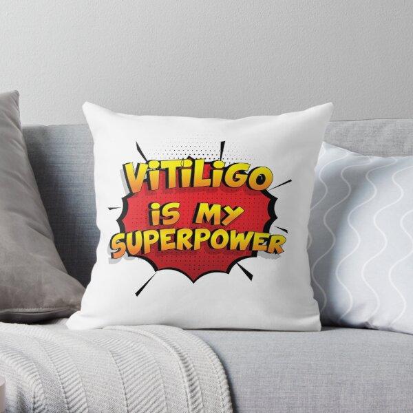 Vitiligo ist mein Superpower Lustiges Vitiligo Designgeschenk Dekokissen