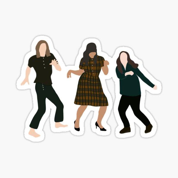 Klaus, Allison y Vanya Dancing // Temporada 2 Pegatina
