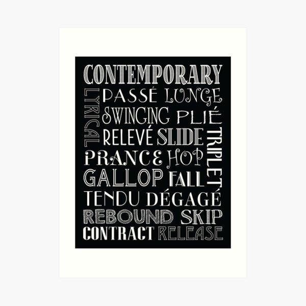 Contemporary Dance Subway Art Poster Art Print