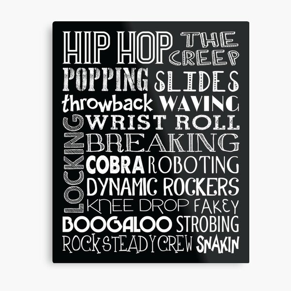 Hip Hop Dance Subway Art Poster Metal Print