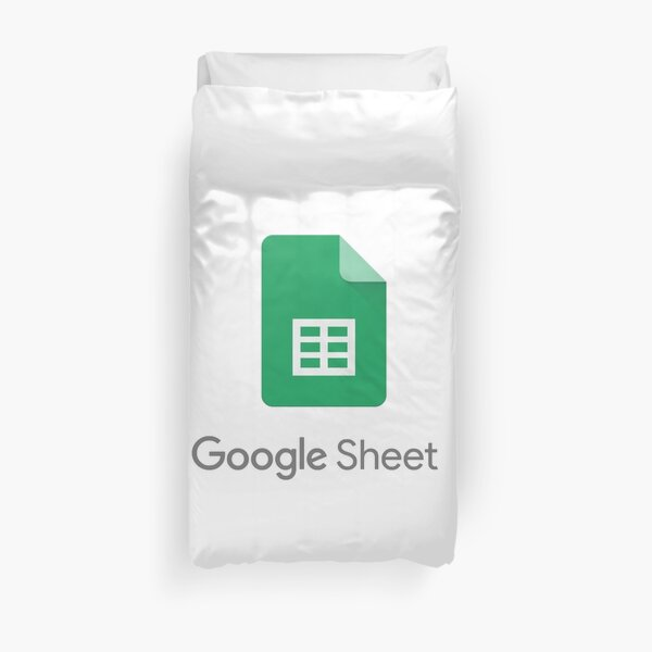 Google sheets Sticker Duvet Cover
