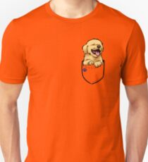 Pocket Puppiez - Golden Retriever Unisex T-Shirt