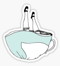 Alice in Wonderland Tea Cup Sticker Sticker