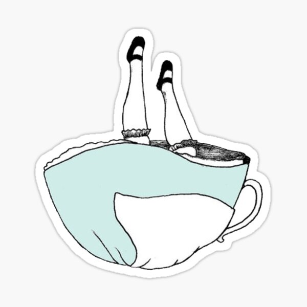 Tasse à thé Alice au pays des merveilles Sticker Sticker