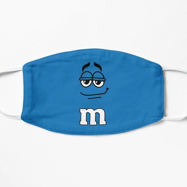 Blue M&M Candy Face Mask Flat Mask