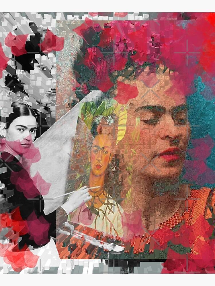 Frida Khalo - cubic digital paint by Iona Art Digital by IonaArtDigital