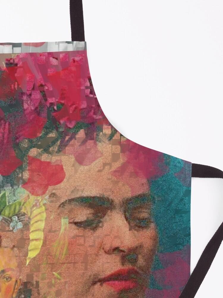 Alternate view of Frida Khalo - cubic digital paint by Iona Art Digital Apron