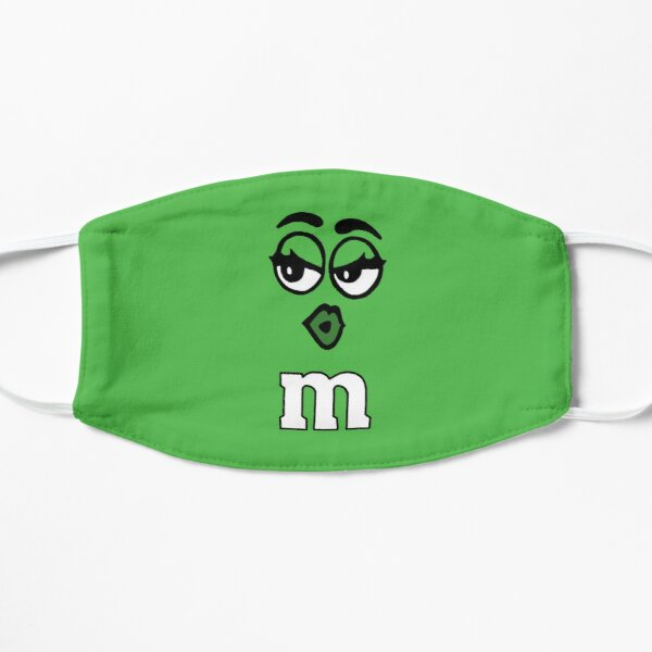Green M&M Candy Face Mask Mask