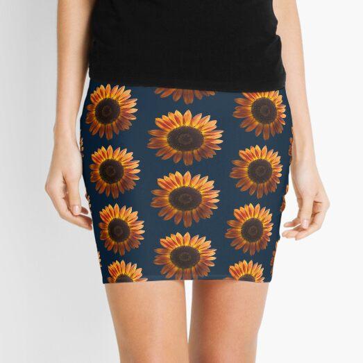 Orange and Blue Mini Skirt