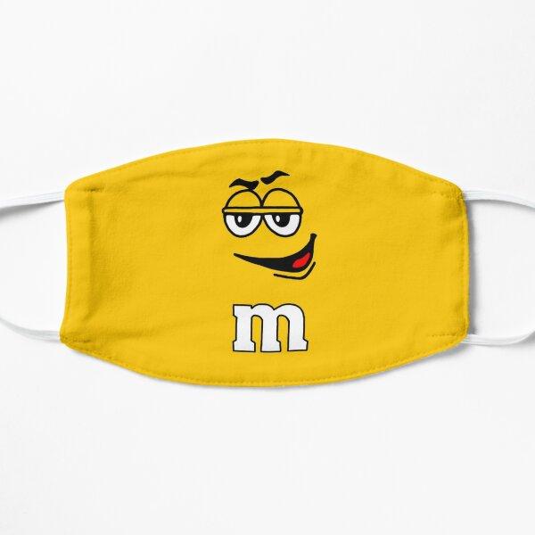 Yellow Peanut M&M Candy Face Mask Flat Mask