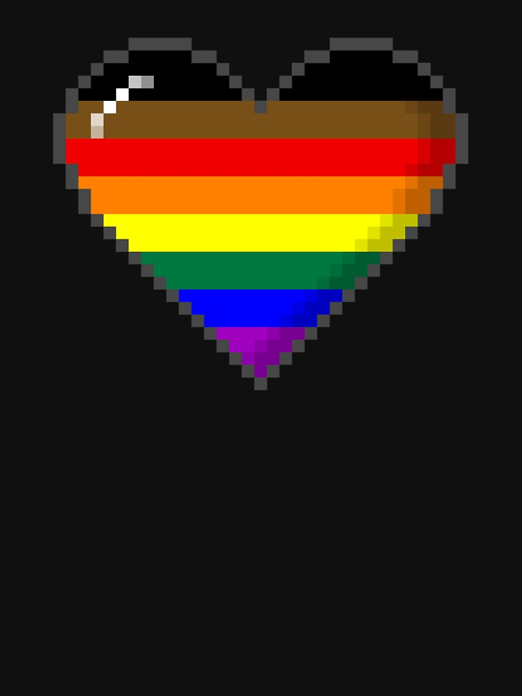 Philly LGBTQ Pride 8-Bit Pixel Heart by valador