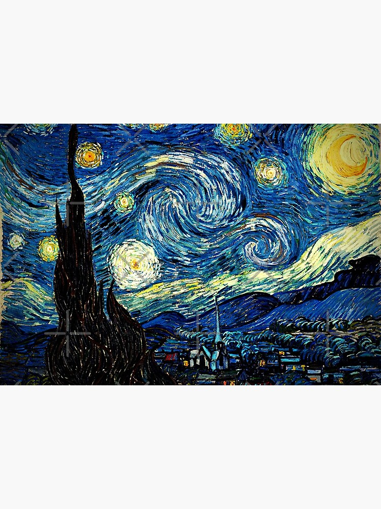Starry Night - Vincent Van Gogh by SuperAceDesigns