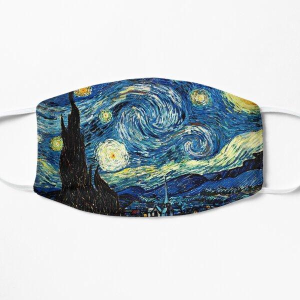 Noche estrellada - Vincent Van Gogh - Ideas de regalos para amantes del arte Mascarilla plana