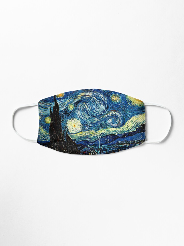 Alternate view of Starry Night - Vincent Van Gogh Mask