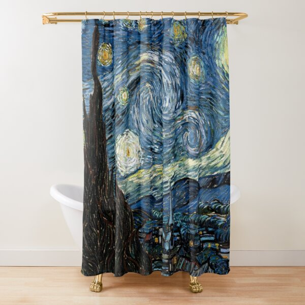 Starry Night - Vincent Van Gogh Shower Curtain