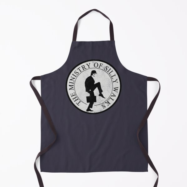 Ministry Of Silly Walks (distressed look) Apron