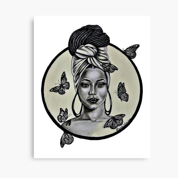 Black Is Queen Canvas Print