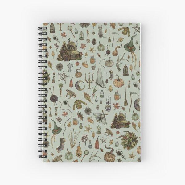 Green Cozy Crone Spiral Notebook