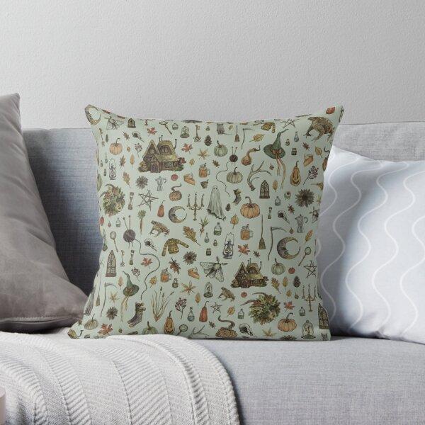 Green Cozy Crone Throw Pillow