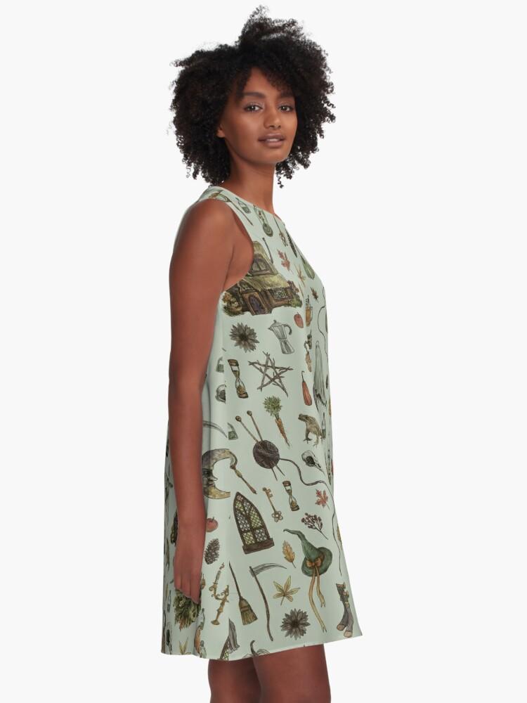 Alternate view of Green Cozy Crone A-Line Dress