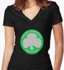 Silver Shamrock Novelties Women's Fitted V-Neck T-Shirt