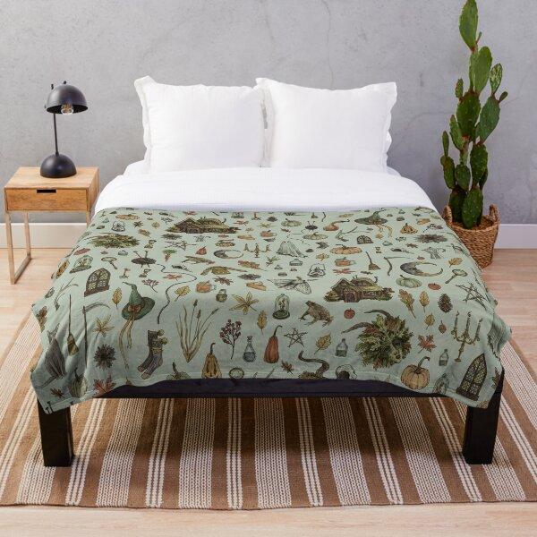 Green Cozy Crone Throw Blanket
