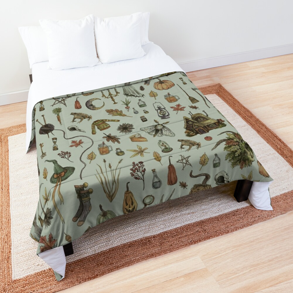 Green Cozy Crone Comforter