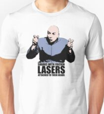 Dr. Evil Sharks With Frickin Lasers Austin Powers Tshirt Slim Fit T-Shirt