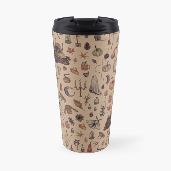 Rustic Brown Cozy Crone Travel Mug