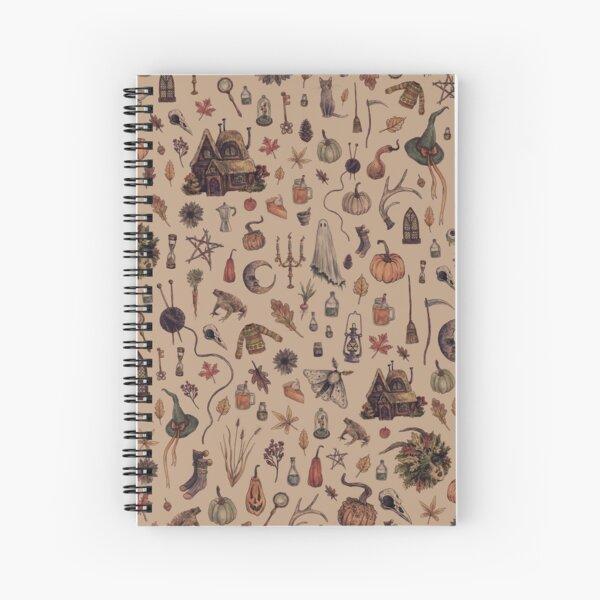 Rustic Brown Cozy Crone Spiral Notebook