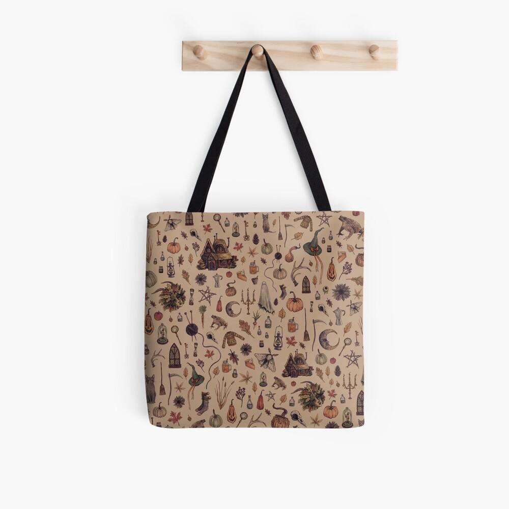 Rustic Brown Cozy Crone Tote Bag