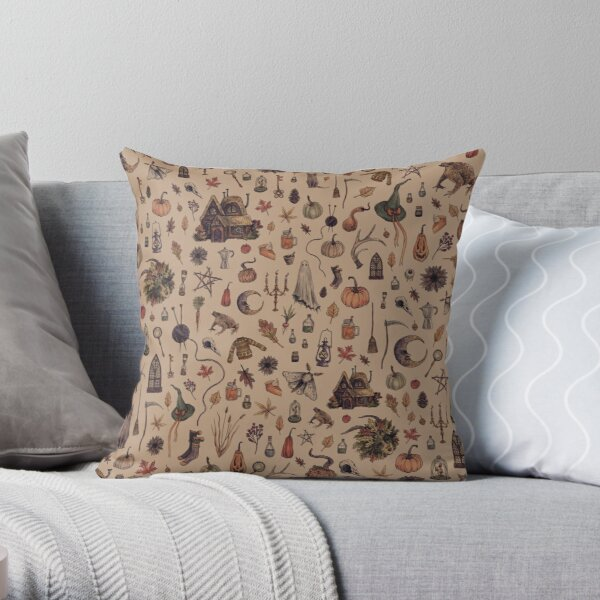 Rustic Brown Cozy Crone Throw Pillow