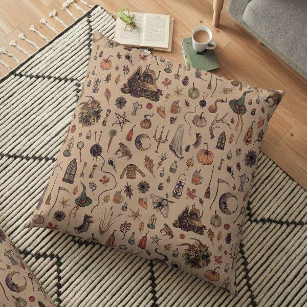 Rustic Brown Cozy Crone Floor Pillow