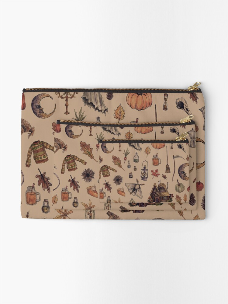 Alternate view of Rustic Brown Cozy Crone Zipper Pouch