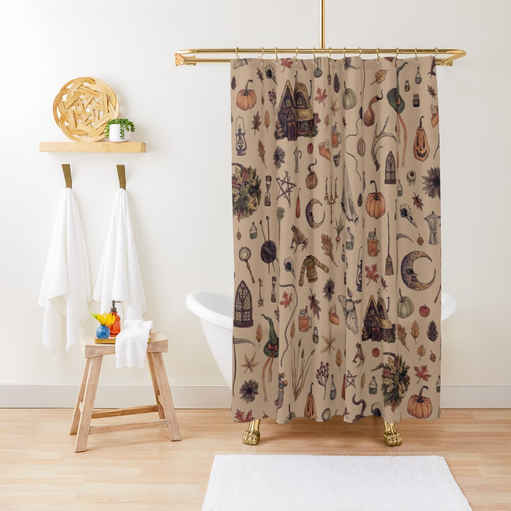 Rustic Brown Cozy Crone Shower Curtain