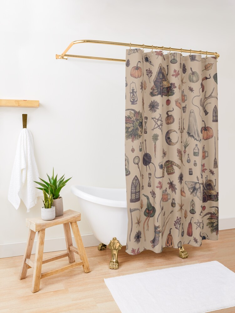 Alternate view of Rustic Brown Cozy Crone Shower Curtain