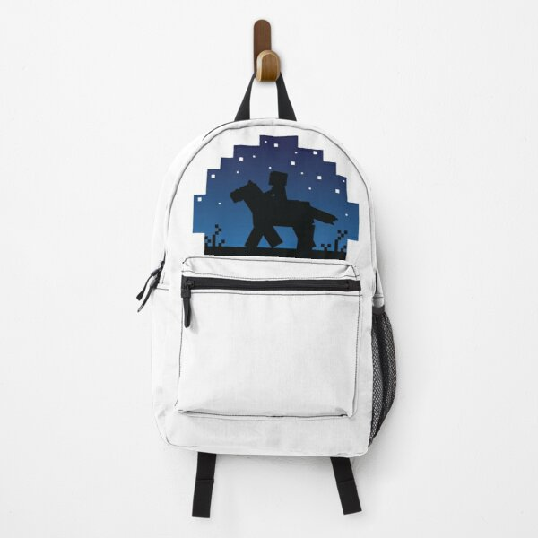 Starry Minecraft Sunset with Horse Backpack