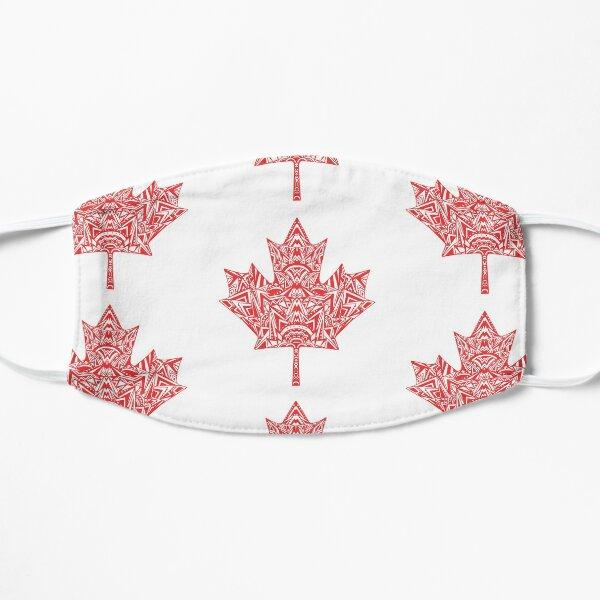 Canada Maple Leaf Zentangle Artwork designed by Hayley Lauren Design  Mask