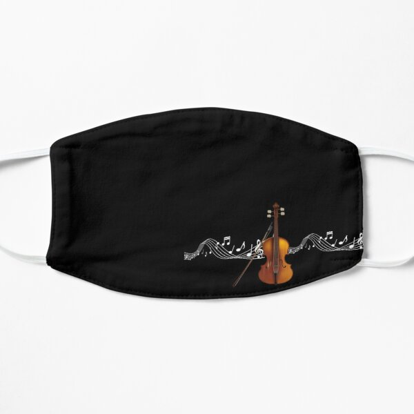Strings (Violin, Cello, Viola, Double Bass) with music notes Flat Mask