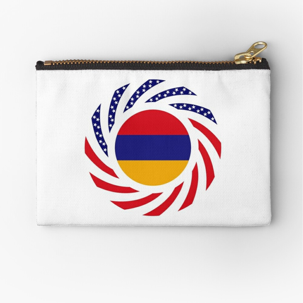 Armenian American Multinational Patriot Flag Series Zipper Pouch