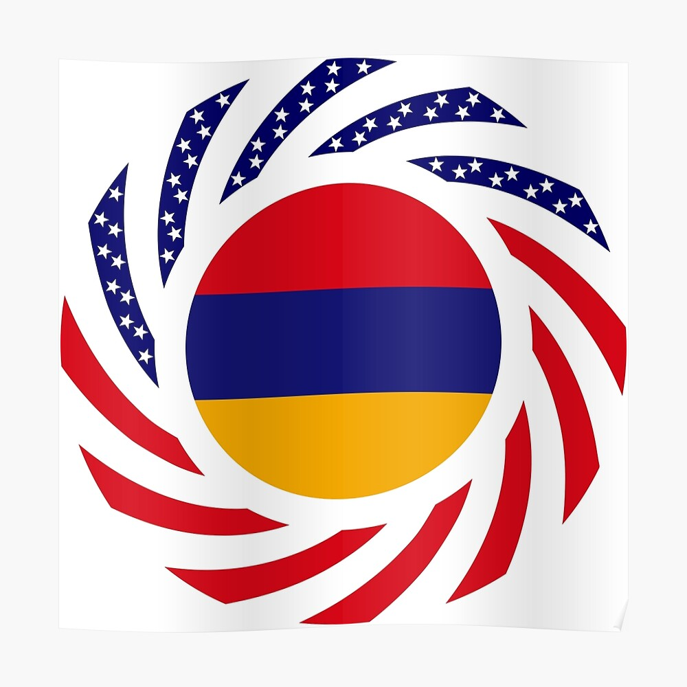 Armenian American Multinational Patriot Flag Series Poster