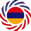 Armenian American Multinational Patriot Flag Series by Carbon-Fibre Media