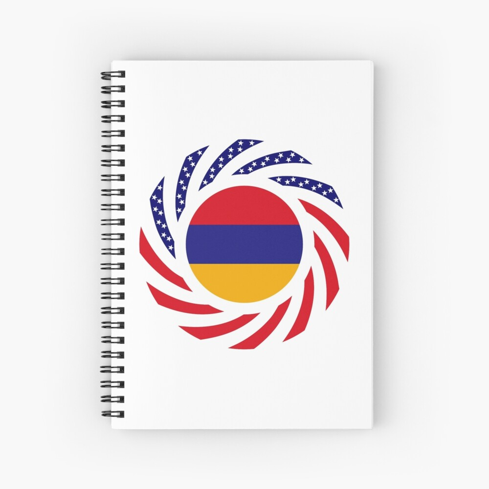 Armenian American Multinational Patriot Flag Series Spiral Notebook