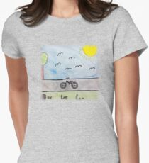 Elise - One Less Car T Womens Fitted T-Shirt