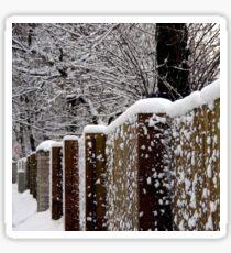 Winter fence Sticker